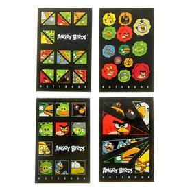 Блокнот А7, 48 листов на клею Angry Birds Выпуск №6, 3-х цветный блок, МИКС Ош
