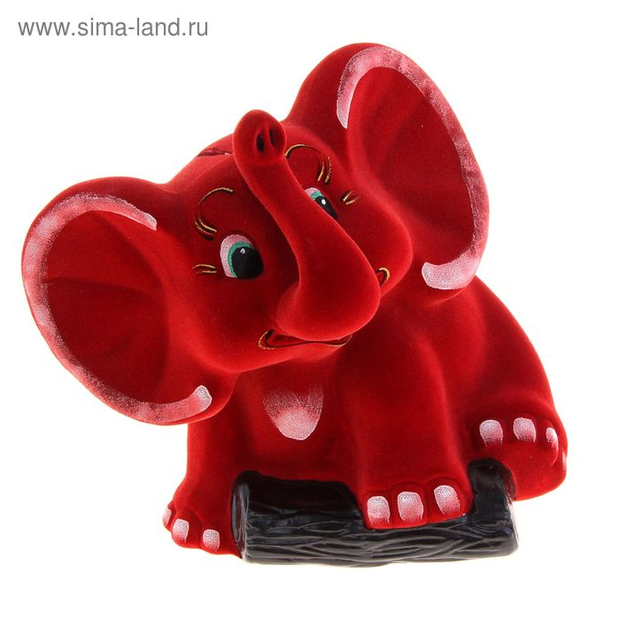 "Копилка ""Слон"" флок, цвет микс"
