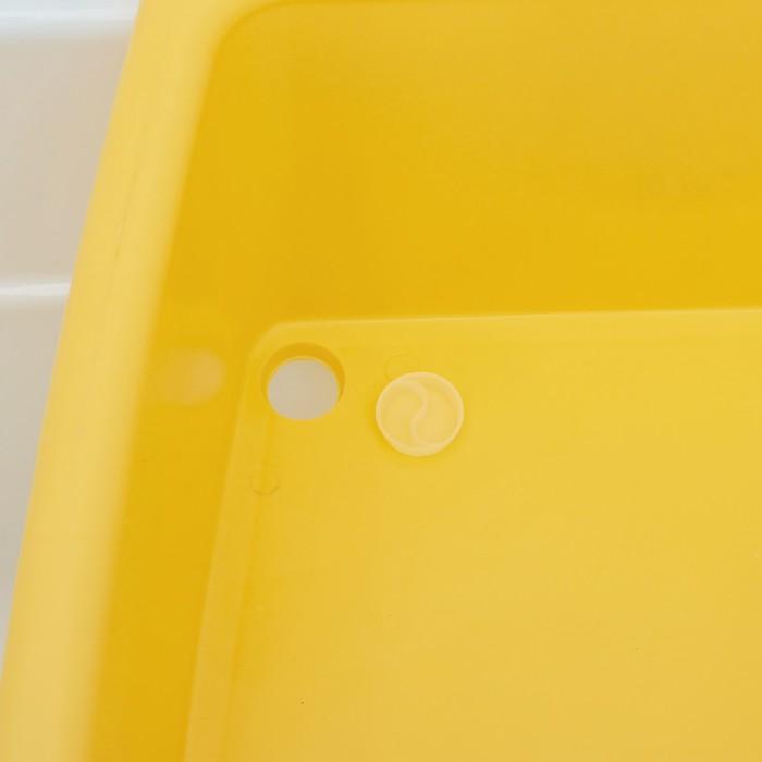 Таз со стиральной доской 34 л, особо прочный, цвет МИКС