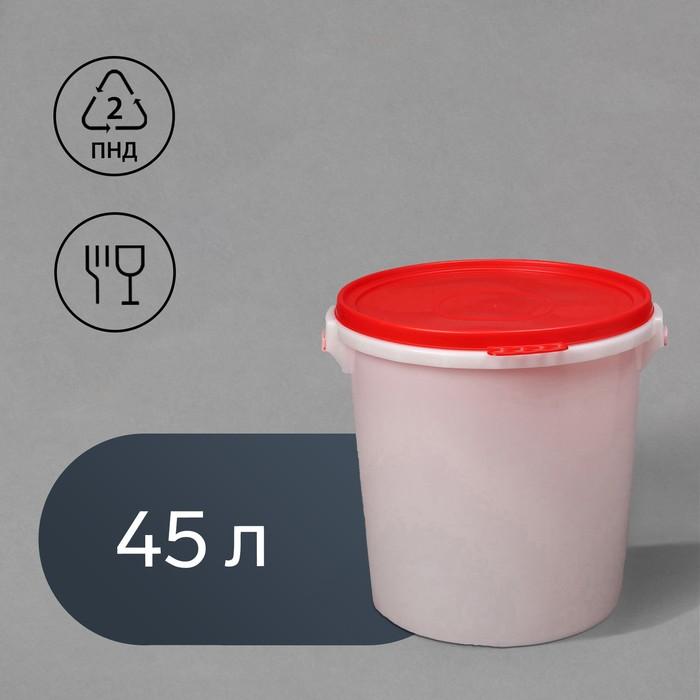 Бак пищевой, 45 л, с герметичной крышкой, цвет МИКС