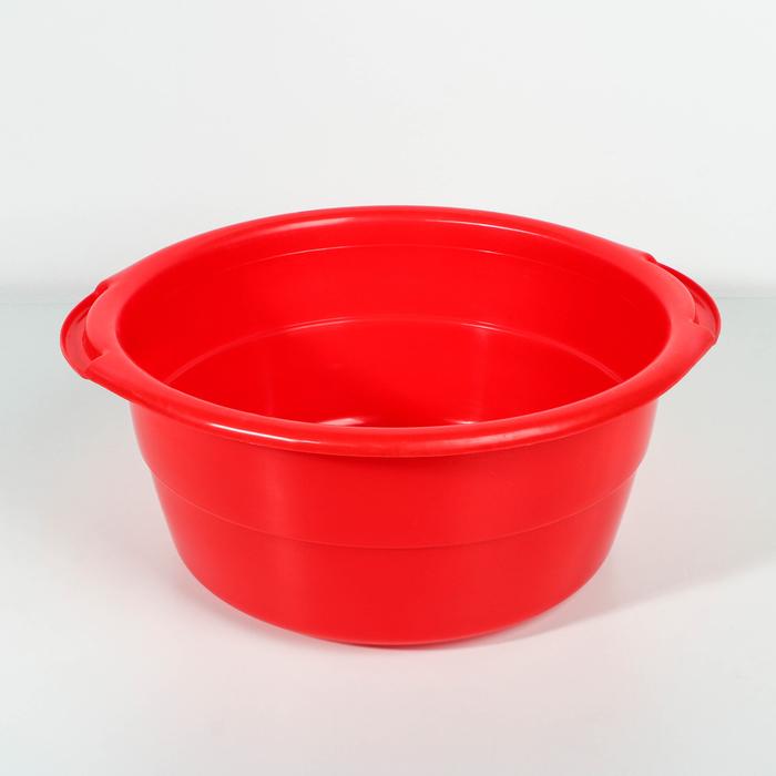 Таз пластиковый особо прочный 8 л, цвет МИКС