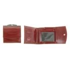 Кошелёк женский, 2 отдела для купюр, для кредитных карт, цвет красный