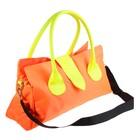 """Сумка женская """"Сочность"""" 1 отдел на молнии, с хлястиком, длинный ремень, цвет оранжевый"""