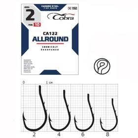 Крючки Cobra ALLROUND серия CA122 №4, 10 шт.