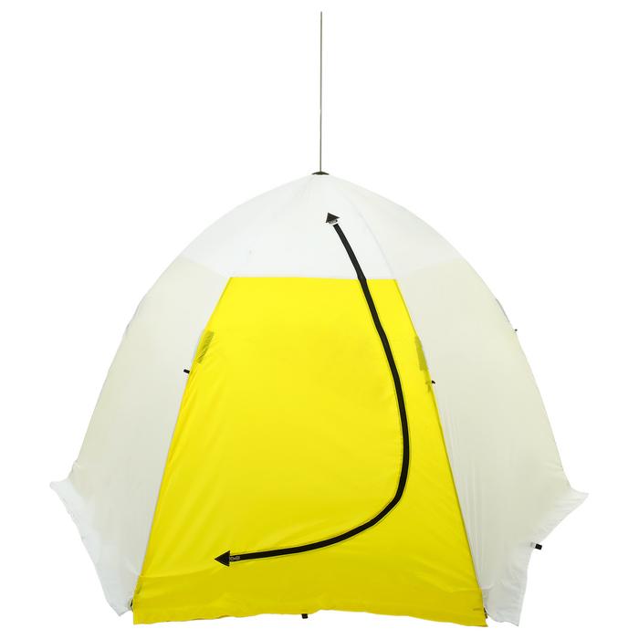 Палатка зимняя «СТЭК» 3-местная с дышащим верхом, алюминиевый крепёж