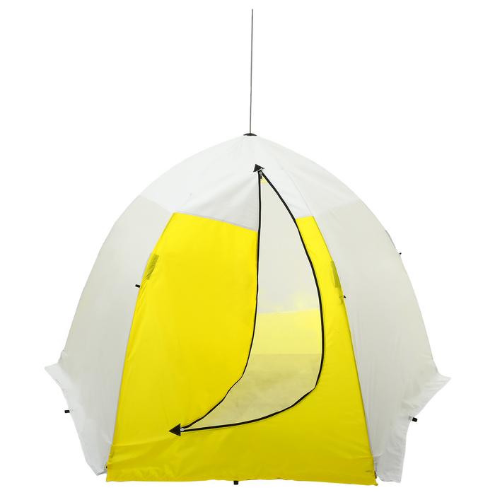 Палатка зимняя «СТЭК» 3-местная с дышащим верхом, алюминиевый крепёж - фото 35058