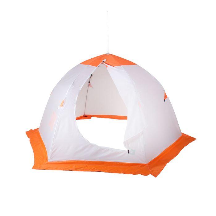 Палатка «Медведь» 3 местная, 6 лучей, оксфорд 210, верх брезент - фото 33889