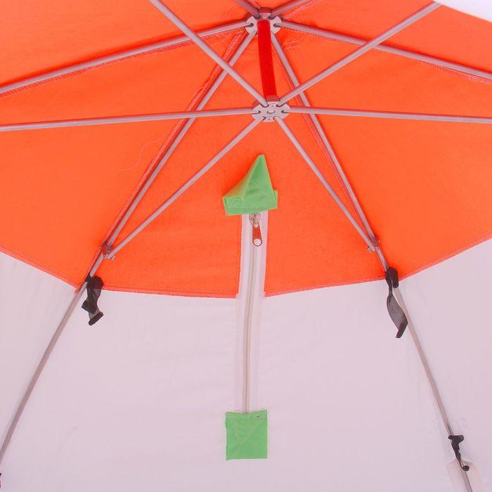 Палатка «Медведь» 3 местная, 6 лучей, оксфорд 210, верх брезент - фото 33890