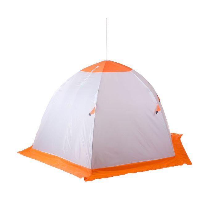 Палатка «Медведь» 3 местная, 6 лучей, оксфорд 210, верх брезент - фото 33891
