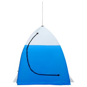 Палатка зимняя «СТЭК» 1-местная с дышащим верхом, алюминиевый крепёж