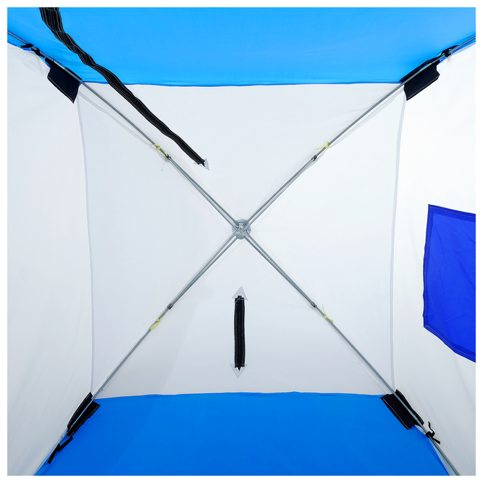 Палатка зимняя «СТЭК» 1-местная с дышащим верхом, алюминиевый крепёж - фото 35071
