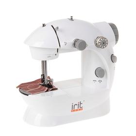 Швейная машинка Irit IRP-01, полуавтомат, от батареек/сети, бело-серая