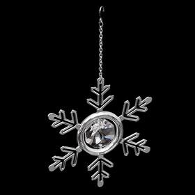 Сувенир-подвеска «Снежинка», с кристаллом Сваровски