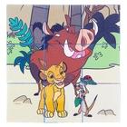 """Развивающие кубики """"Король Лев"""", 9 штук"""