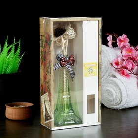 """Gift set """"Eiffel tower"""" (vase, 2 sticks with beads, decor, fragrance oil 30ml) a scent of Jasmine"""