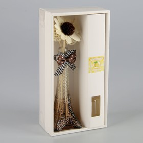 "Gift set ""Eiffel tower"" (vase, 2 sticks with beads, decor, essential oils 30 ml), fragrance lemon"
