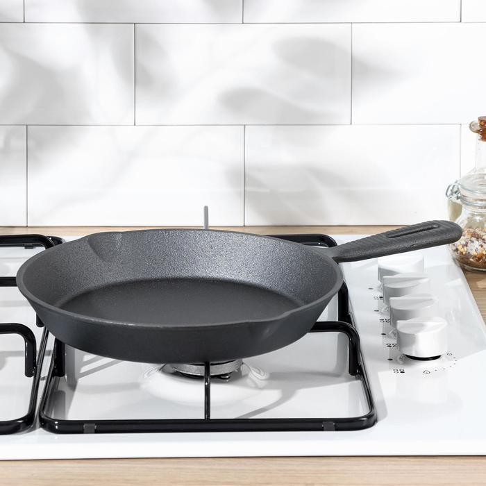 Сковорода чугунная 25 см с 2 сливами