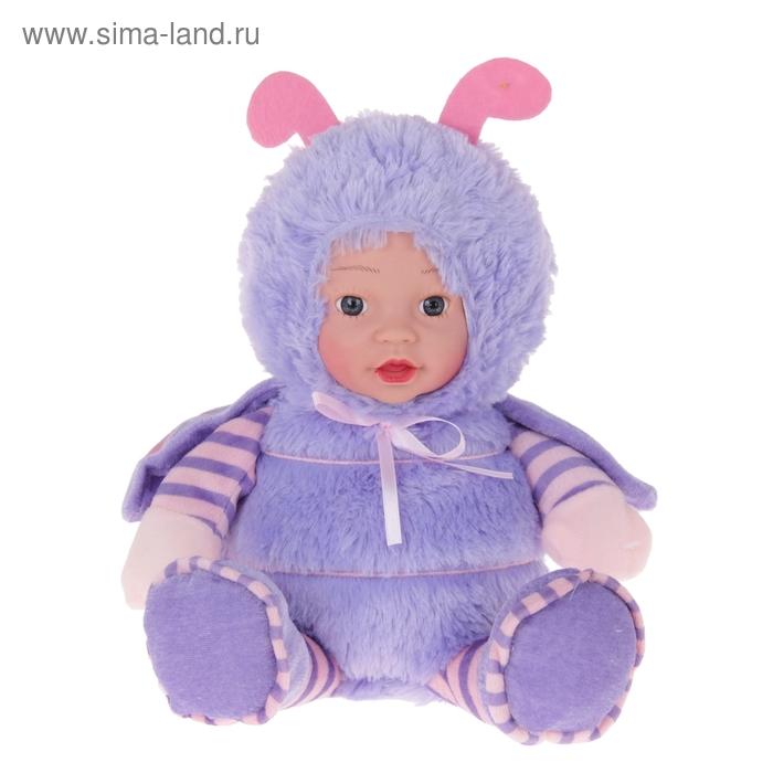 """Мягкая игрушка """"Кукла костюм божья коровка"""" сиреневая"""