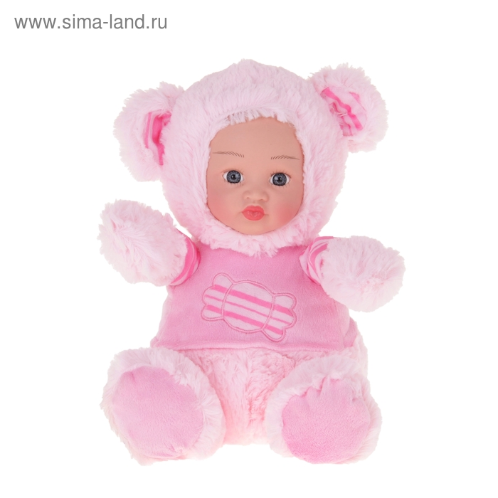 """Мягкая игрушка """"Кукла костюм мишка"""" розовый"""