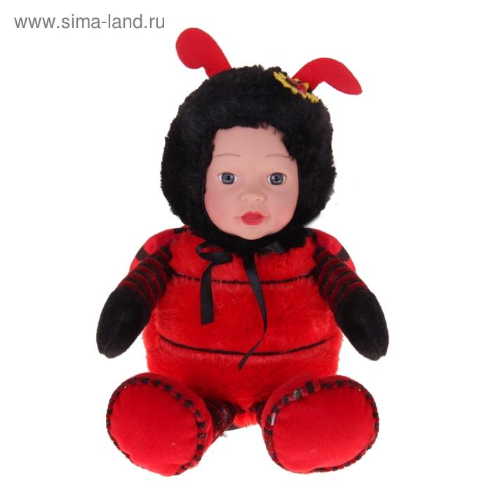"""Мягкая игрушка """"Кукла костюм божья коровка"""" красная"""