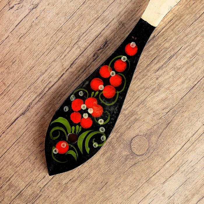 Лопатка «Цветок», с ручной росписью, 5×31 см, микс, хохлома
