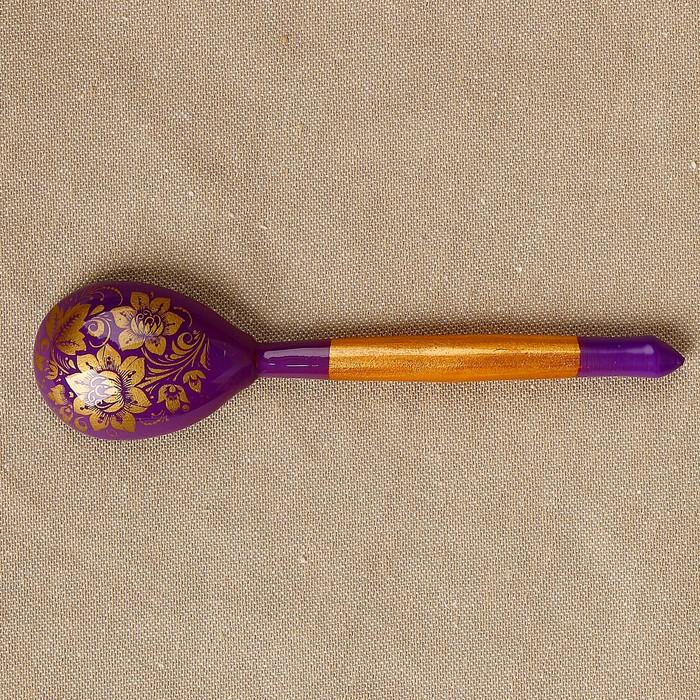 Ложка «Золотая кудрина», 14,7×3,5 см,  микс