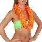 """Гавайское ожерелье """"Лепестки ириса"""", цвет оранжевый"""