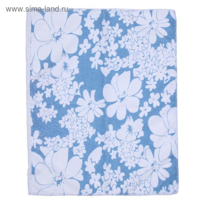 """Салфетка для уборки """"Цветочки"""", NAP-230, 30х40 см, микс цвета"""
