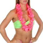 """Гавайское ожерелье """"Лепестки ириса"""", цвет розовый"""