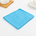 Салфетка из микрофибры, мягкая 30х30 см, цвета МИКС
