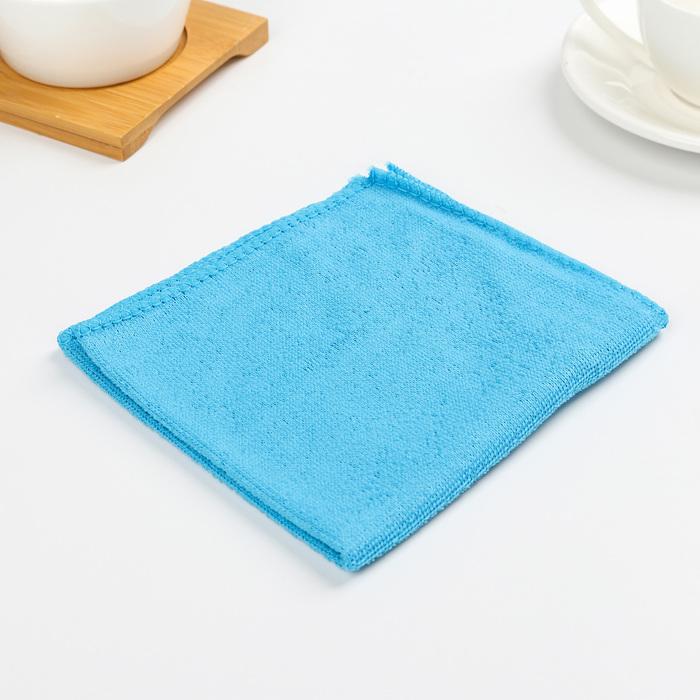 Салфетка из микрофибры, мягкая 30×30 см, 130 г/м2, цвет МИКС