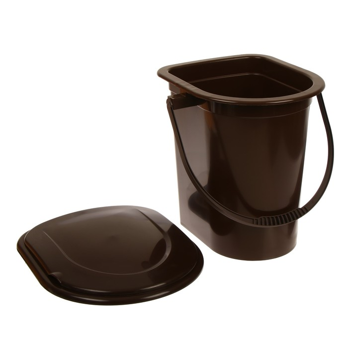 Ведро-туалет, 17 л, со съёмным горшком, бежевый