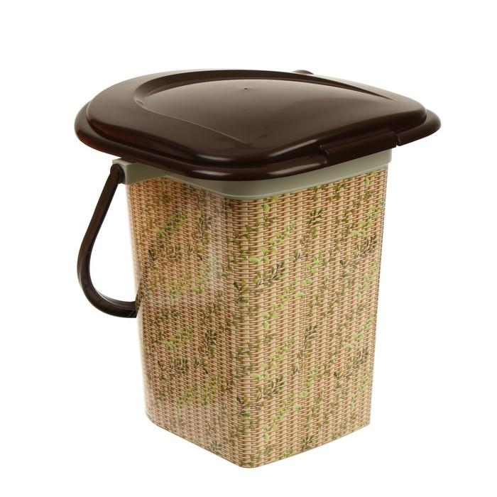 Ведро-туалет, 17 л, «Плетёнка»