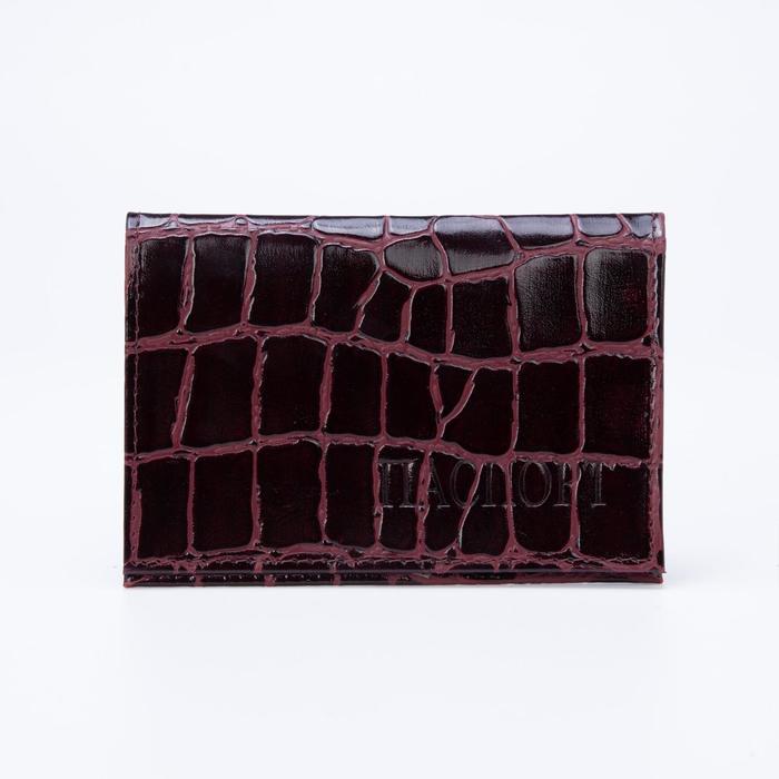 Обложка для паспорта, бордовый скат
