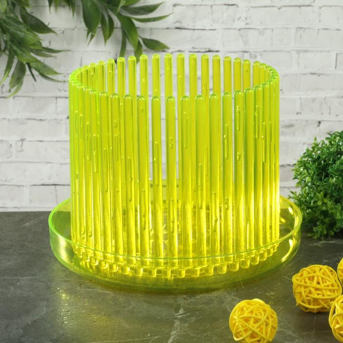 "Горшок для орхидеи ""Корона"", цвет желтый флер"