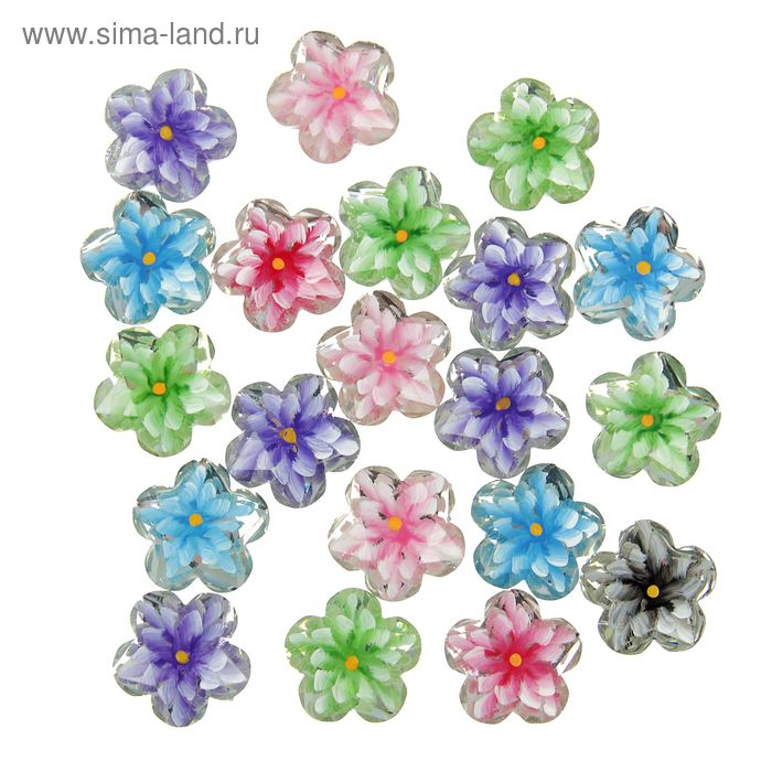 "Декор для творчества ""Цветок в цветке"", набор 20 шт."