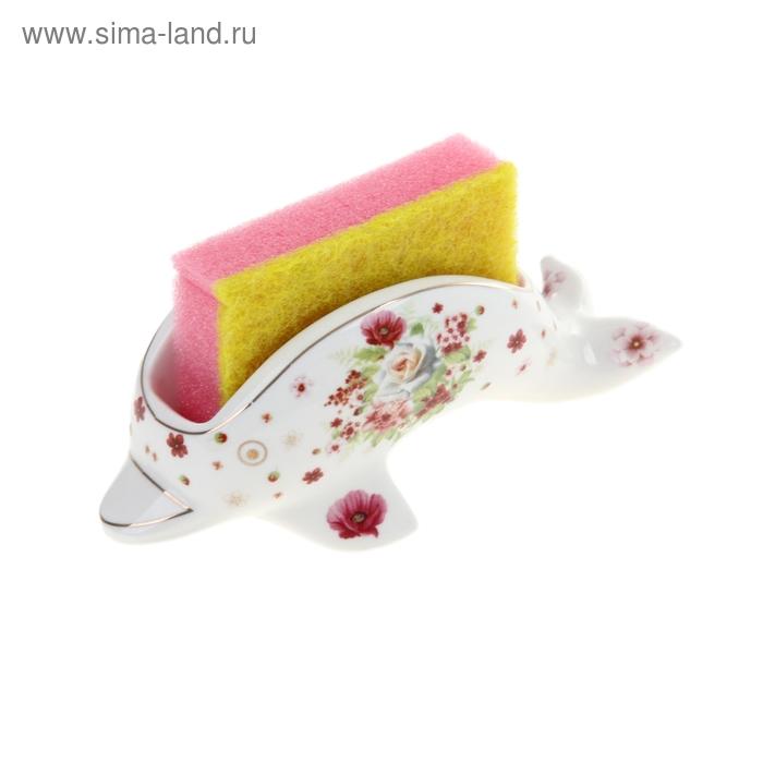 """Подставка с губкой 50 мл """"Дельфин"""", цвета МИКС"""