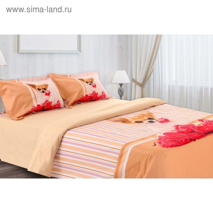 """Постельное бельё """"Этель 3Д"""" евро Романтик 200*220 см, 220*240 см, 50*70 + 5 см - 2 шт."""