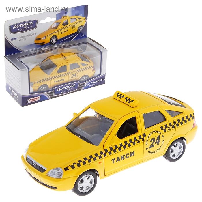"Модель машины такси ""Lada Priora"", масштаб 1:36"