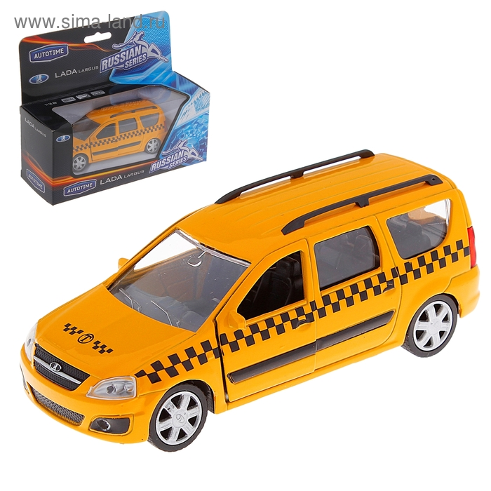 "Модель машины такси ""Lada Largus"", масштаб 1:38"