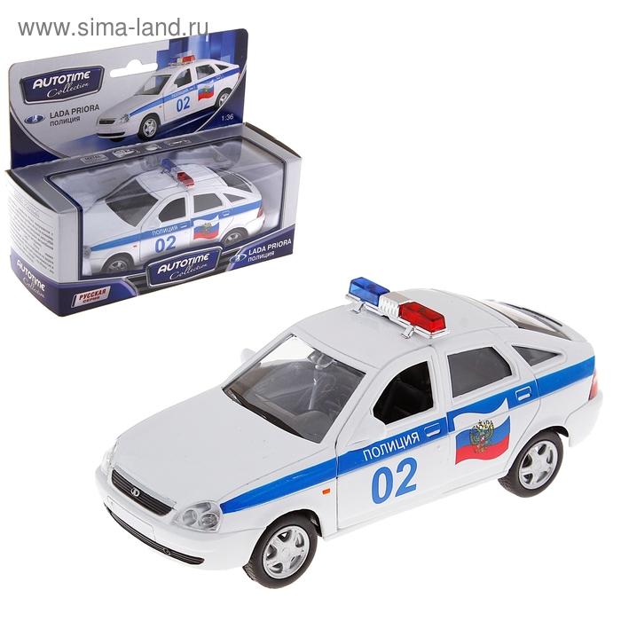 """Модель машины полиция """"Lada Priora"""", масштаб 1:36"""