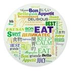 Разделочная доска круглая «Приятного аппетита», 20 см