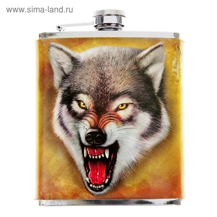 """Фляжка """"Волчий оскал"""" 210 мл"""