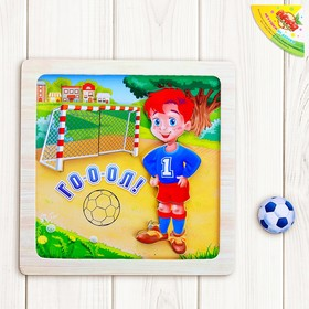 "Designer magnetic in wooden frame ""Funny football"", 6 items"