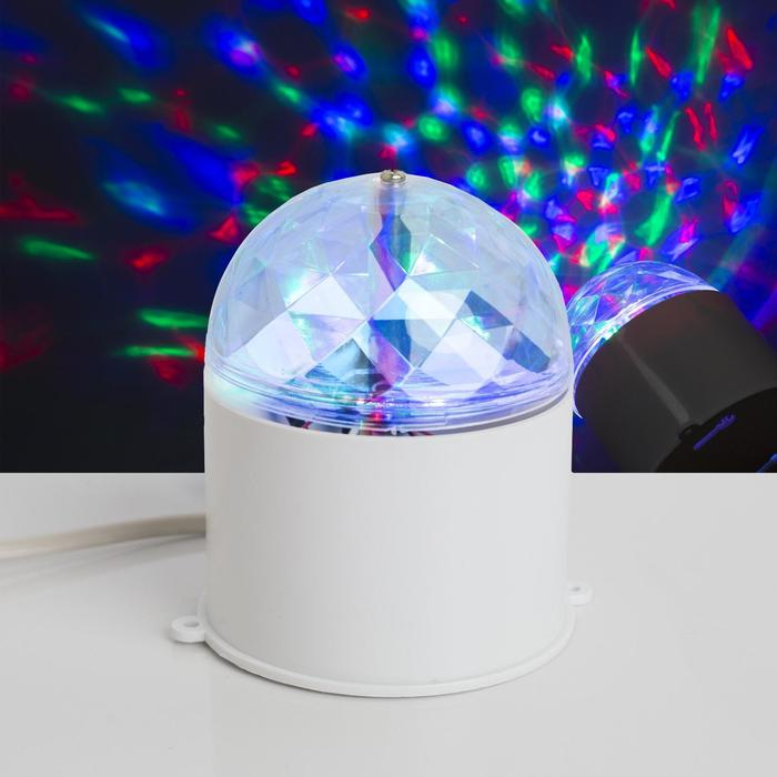 Световой прибор хрустальный шар диаметр 7,5 см V220 БЕЛЫЙ