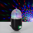 Лампа-ночник «Хрустальный шар», 220 В, МИКС