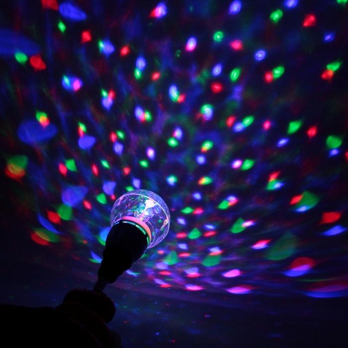 Лампа хрустальный шар диаметр 12 см., 220V, цоколь Е27