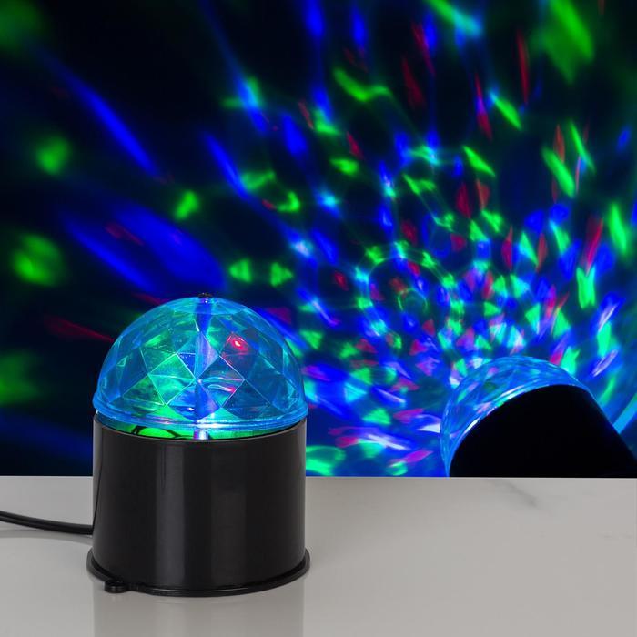 Световой прибор хрустальный шар диаметр 7,5 см V220 ЧЕРНЫЙ - фото 726762854