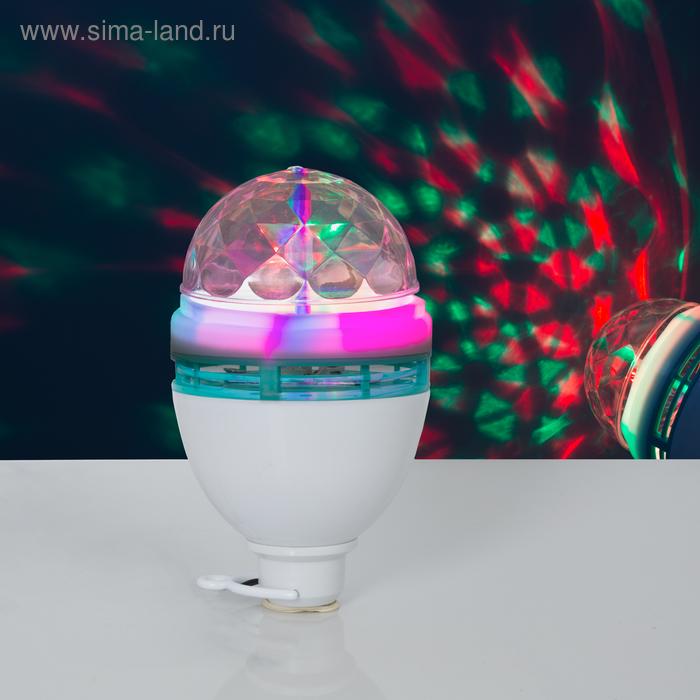 Лампа хрустальный шар диаметр 8 см., от USB, автоскручивающийся провод