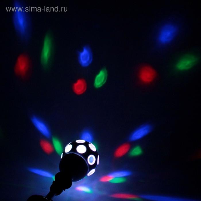 Лампа хрустальный шар диаметр 12 см., шар-хром 220V, цоколь Е27